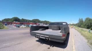 14,2 liter Scania V8 in a widened pickup
