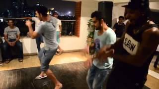 Kholi dance with Gayle,yuvraj and AB De villiers