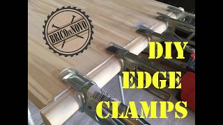 DIY EDGE CLAMPS - Cómo hacer unas pinzas para sujetar bordes.