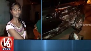 Road Accident In Hyderabad Outskirts   Car Hits Old Man   V6 News