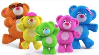 teddy bear finger family | teddy bear turn around | nursery rhymes | kids songs | kids tv