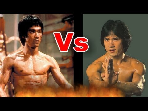 Bruce Lee vs. Jackie Chan Push up I 李小龙 与 成龙