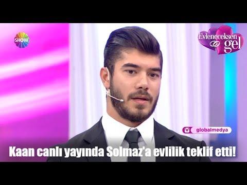 Kaan canlı yayında Solmaz'a evlilik teklif etti!