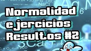Normalidad quimica (N). Ejercicios resueltos 2 | Quimica