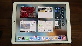 iOS 11 running on an iPad Pro - New Features!