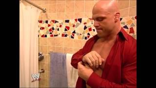 Curt angle get ready to bath with lita