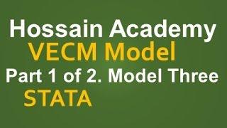 VECM. Part 1 of 2. Model Three. STATA