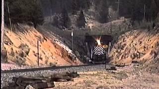 Montana Rail Link/Burlington Northern On Mullan Pass, MT - May, 1995