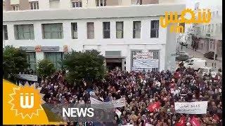 بحضور الطبوبي: تجمع عمالي أمام الاتحاد الجهوي للشغل بصفاقس