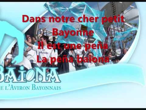 Hymne Aviron Bayonnais Paroles