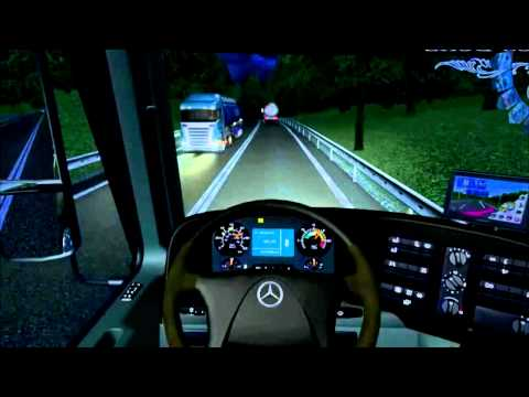 Euro Truck Simulator 2008 load to Gibraltar with MB actros MP4 part8