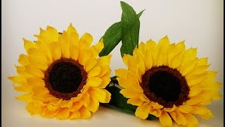 How To Make Sunflower From Crepe Paper - Craft Tutorial