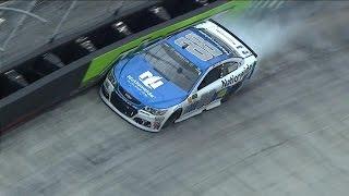 Dale Jr. crashes hard into wall at Bristol