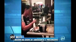 Mulher faz barraco em shopping na Barra