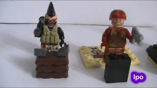 5 Soldiers Heroes [Lego Soldiers and Battle Scane]-Lego War