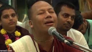 Hare Krishna Kirtan by Mathura Jivan Prabhu on Day 1 of ISKCON Mira Road Kirtan Mela 2016