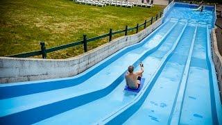 Tosselilla Sommarland - Surfing Hill   Mat Racer Water Slide Onride