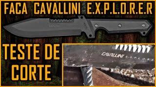 Faca CAVALLINI Explorer cortando até CABO DE AÇO - by Ricardo Vilar - sobrevivência bushcraft