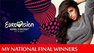 Eurovision 2017 - My National Final Winners