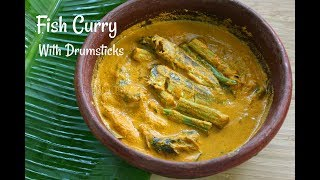 Fish Curry With Drumsticks - Kerala Mathi/Sardine Curry - Skinny Recipes For Weight Loss
