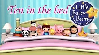 Ten In The Bed | Nursery Rhymes | from LittleBabyBum!