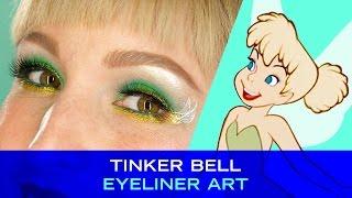 Tinker Bell Eyeliner Art | Disney Style