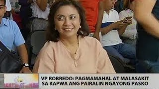 VP Robredo: Pagmamahal at malasakit sa kapwa ang pairalin ngayong Pasko