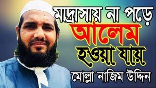 মাদ্রাসায় না পড়ে আলেম হওয়া যায় । মোল্লা নাজিম উদ্দিন Bangla Waz 2018 Mawlana Molla Nazim Uddin