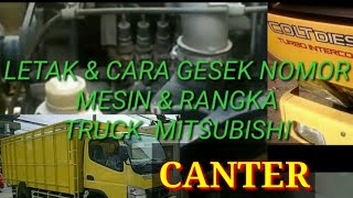 Posisi & cara gesek nosin & rangka truck mitshubisi canter