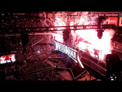 WWE WrestleMania XXX opens in the Mercedes-Benz Superdome in New Orleans