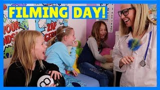 Filming a NEW Toy Doctor Kid Video with Addy + Maya + Avery !!!