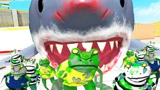 GIANT SHARK EATS ZOMBIE FROGS - Amazing Frog - Part 154 | Pungence