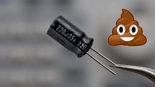 Why electrolytic capacitors are actually kinda shitty 💩