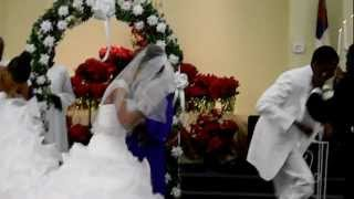 Pastor Johnny Brown and Rachel Dixon's Holy Ghost Wedding Praise Break 12-22-12 080.MOV