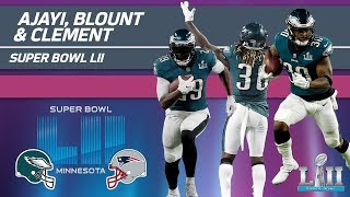 Ajayi, Blount & Clement Rack Up 255 Yards! | Eagles vs. Patriots | Super Bowl LII Player Highlights