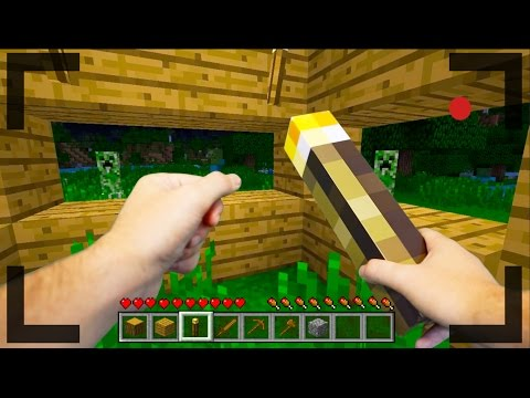 Realistic Minecraft OUR FIRST DAY IN MINECRAFT 1