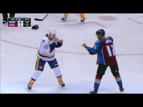 Iginla and former teammate McLeod exchange fists of fury