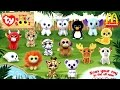 2017 McDONALD'S TY TEENIE BEANIE BOO'S HAPPY MEAL TOYS PLUSH FULL SET 15 KIDS COLLECTION PREVIEW USA