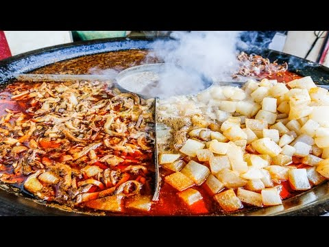 Chinese Street Food Tour in Wuhan China Street Food in China BEST Noodles