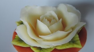 CARVING A BEAUTIFUL ROSE IN SOAP -  By J.Pereira  Art Carving - 100 Aromas - Flores em sabonete