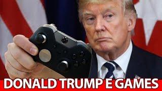 Donald Trump coloca CULPA de MASSACRE nos VIDEO GAMES