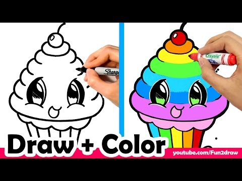 Xxx Mp4 How To Draw A Rainbow Cupcake Cute Easy Mei Yu 3gp Sex