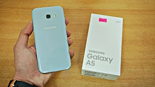 Samsung Galaxy A5 (2017) Blue - Unboxing & First Look! (4K)
