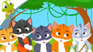 Five Little Kittens English Nursery Rhymes and Song for Kids