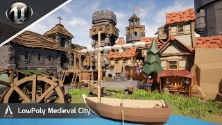 Speed Level Design - LowPoly Medieval City - Unreal Engine 4