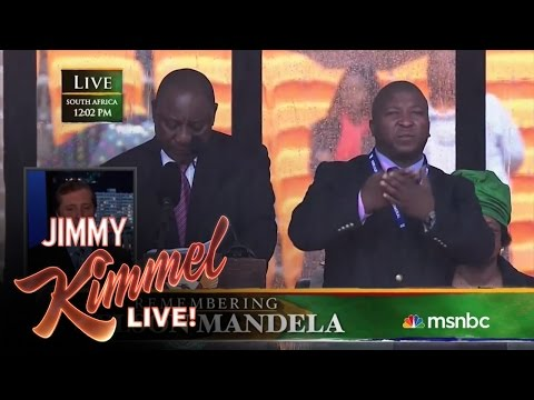 Sign Language Interpreter Translates Mandela Memorial Impostor's Signs