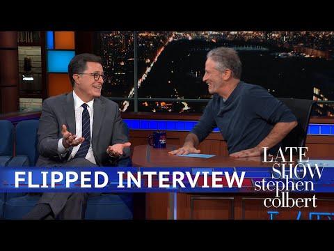 Jon Stewart s Flipped Interview With Stephen Colbert