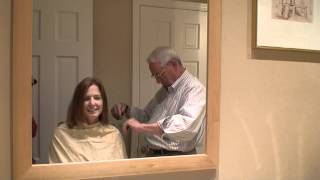 25th reunion haircut by Ward my father-in-law Part 1