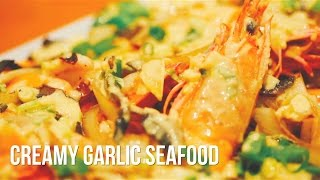 How to make Creamy Garlic Seafood