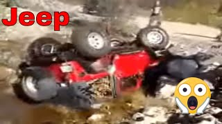 Epic Jeep Wrangler Rollover - Amazing Fail Must See